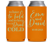 SLIM Can Coolers Beach Wedding Favors Wedding Can Coolers Summer Beach Wedding Decor To Have To Hold Keep Your Drink Cold 2A 8.3 or 12oz