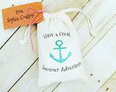Have a Great Summer Adventure Favor Bag Anchor Favors Nautical Party Favors Birthday Favors Wedding Favors Gift Bags Party Favor
