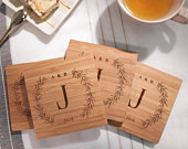 Custom Coasters Wood Coasters Engraved Coasters Personalized Coasters Wedding Gift Coasters Customized Coasters Coasters Wedding