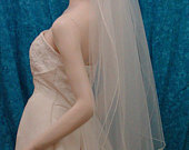 choose your length bridal veil 2 tier with a delicate pencil edge Sale