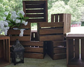 rustic wooden crates 8x7 wedding decorations / wood crate / wedding crate / wedding reception .Table centerpiece . flower box . Flower vase