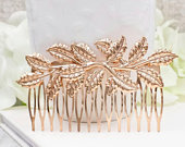 Gold Leaf Hair Comb, Gold Branch Haircomb, Gold Leaves Hair Accessory, Botanical Woodland Wedding Bridal Bridesmaid Gift for Her