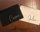 PERSONALIZED NAME COSMETIC Bag Custom makeup bags Zipper Bag with Name Zipper Pouch Custom Wedding Party and Bridesmaid Gifts