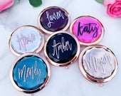 Compact Mirror, Makeup Compact, Personalized Compact, Custom Compact Mirror, Bridesmaid Gift, Bachelorette Favor, Personalized Mirror