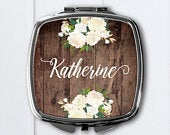 Personalized compact mirrorBridesmaid GiftsBridal shower favor mirrorPersonalized mirrorpersonalized compact purse mirrorpocket mirror