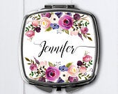 Personalized compact mirrorBridesmaid GiftsBridal MirrorsBridal shower favorcompact mirrorpersonalized compact mirrorpocket mirror