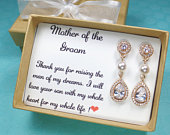 Mother of the bride gift,Mother of the groom gift,mother of the bride earrings,mother of the groom necklace,wedding jewelry
