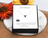 Love Triangle, Grooms Mother, Mother Of The Bride, Necklace