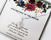 Stepmother of the Groom Necklace Gift from Bride Infinity Necklace Step mother of the Groom Gift, Step mom of Groom Gift, Wedding Jewelry