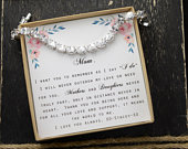 mother of the bride gift bracelet from bride mother of the groom gift step mother of the bride stepmom wedding gift necklace earrings OVAL