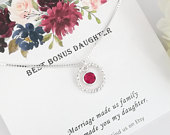 Future DAUGHTER In LAW Gift Daughter In Law Necklace Best Bonus Daughter Eternity Necklace Daughter in Law Wedding Gift from Mother in Law