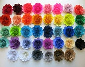 Custom Quantity and Color Paper Flowers, 3 Scalloped Roses Loose or on Stems, Wedding Decor, Bridal Shower, Party Decorations