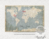 Wedding guest book alternative Travel gift wedding map sign custom guestbook canvas Personalized wedding sign board Rustic wedding gift