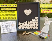Wedding Guest Book Alternative Personalized Wedding Guest Book Drop Box Wedding Guest Book Guest Book Drop Box Hearts Guest Book