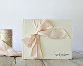 Silk Wedding Guest Book Silk Dupioni Bow by Claire Magnolia