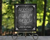 First Day, Best Day, Yes Day Printable Chalkboard Wedding Sign, Personalized Custom Chalkboard Dates Sign, Rustic Wedding Decoration, DIY