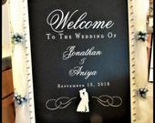 DECAL or STENCIL Welcome To Our Wedding Decal or Stencil for DIY Wedding Signs // For Glass Wood Chalkboard Metal Sign Making // WFW01006