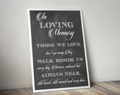 In Loving Memory Wedding Sign, 8x10 inches print, Memorial Table, Instant download, Chalkboard wedding sign, Remembrance Sign Printable