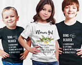 Ring Bearer and Flower Girl Shirt, Ring Security Shirt, Boys Bridal Party Shirts, Rehearsal Dinner Outfits