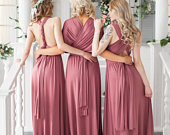 Bridesmaid Dress // Infinity Dress // Convertible Dress // Wrap Dress // Prom Dress // Multiway Dress // Party Dress //Ship from New York