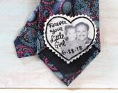Wedding Tie Patch. Father of the Bride Gift. Custom Portrait. Personalized Wedding. Father of the Bride. Gift for Dad. Tie Patch. Dad Tie.