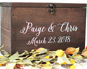 Wood Wedding Card Box with Lid Wedding Money Box Wedding Card Box Wedding Card Holder Rustic Cards Box with Lid WS230