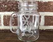 Custom Etched Pint Glasses, Personalized Wedding Favor, Gift for Bridal Party, The Hunt Is Over, Custom Beer Mug, Etched Glass, Glass Stein