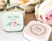 Bridal Shower Favors Personalized Candles Wedding Favors Bridal Shower Candle Favors (EB2077GDN) 12 pcs