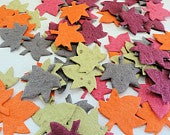 Fall Leaf Seed Paper DIY Wedding Favors Table Decorations (Pack of 100)