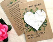 Plantable Love Grows Wedding Favors Eco Friendly Seed Paper Favor Cards