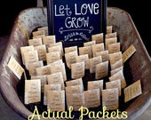 Seed Packet Favors, Let Love Grow, Seed Packets, Personalized Seed Packets, Wedding Seed Packets, Seed Packs, Complete packs Seeds included