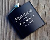 Personalized Flask, Engraved Flask, Custom Flask, Groomsman Flasks, Groomsman Proposal, Groomsman Gift, Best Man, Wedding Party, Hip Flask