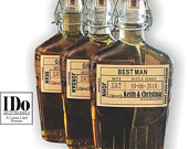 Groomsmen Proposal Flask Labels Whiskey Bottle Labels Craft Liquor Labels Custom Wedding Party Gifts Just the Label