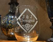 Design Your Own Custom Stemless Wine Glass Personalized Wine Glasses Etched Wine Glasses Custom Wine Glasses Bridesmaid Wine Glasses