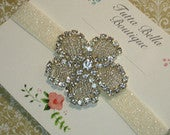 Art Deco Jeweled Headband, Beaded Rhinestone Headband, Flower Girl Headband, Baby Headband, Adult Headband, Bridesmaid Headband