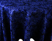 Navy Blue Tablecloth Round Cotton, Linens tablecloths black table cloth wedding, Party settings covers decor dark decorations birthday theme