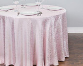 108 in. Round Abstract Silk Embroidered Polyester Tablecloth