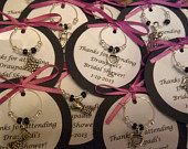 Custom Wine Themed Wine Charm Favors Weddings, Bridal Shower, Rehearsal Dinner, Anniversary, Birthday, Dinner Party or Special Event