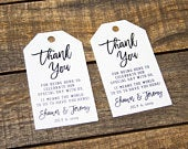 Thank You Tags Wedding Favor Tag Luggage Favor Tags Wedding Favor Custom Tags Destination Wedding Micro Wedding Favors LARGE