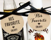 His Favorite Her Favorite Wedding Favor Wedding Favor Tags Wedding Shower Tags Wedding Favor Ideas 40 Tags