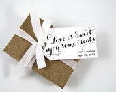 Wedding Favor Tag Love is Sweet Enjoy some Treats Candy Favors Sweet Wedding Favor Wedding Favor Ideas Party Favor Tags MEDIUM