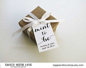 Mint to be Wedding Favor Tags Wedding Favor Tags Mint Wedding Favors Candy Wedding Favors Party Favors Wedding Favor Ideas LARGE