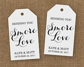 Smore Wedding Favor Smore Wedding Favors Smore Love Tags Wedding Favor Tags Smore Favor Smore Tags Wedding Favor Tags LARGE