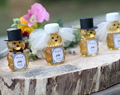 Wedding Bear Guest Favors for Leap Year Wedding. Personalized Wedding Favor for Leap Year, Honey Favors, Guest Favors for Wedding.