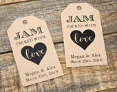 Jam packed with Love Tag Jam Wedding Favor Honey Wedding Favor Spread Wedding Favor Wedding Favor Ideas Custom Tags MEDIUM