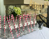 Customized Mimosa Glasses Vintage Milk Bottle Bridal Shower Wedding Gift Classic Party Favor