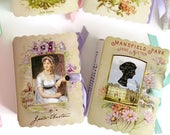 Jane Austen Party Favors 24 Vintage Miniature Book Boxes Birthday Bridal Shower Tea Book Themed Party Literary Tea Personalize