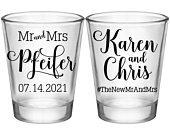 Personalized Wedding Shot Glasses Unique Wedding Favors Wedding Decor Idea Classic Wedding Party Favors Gift For Wedding Guests Mr Mrs 4A2