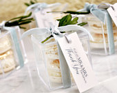Wedding Favors for Guests (1 set of 10). Personalized Wedding Favor Boxes with Tags. Acrylic Favor Boxes. S2AB