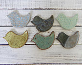made to order Assorted Ceramic Birds Wedding favors Shower Coffee Spoon Rests Ring Holder Trinket dish Tea Bags hostess gift